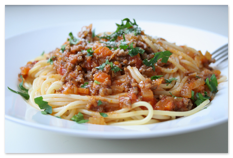 Spaghetti bolognese tarifi